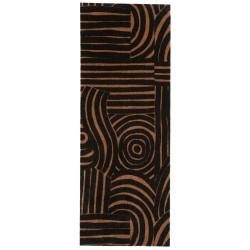 Protiskluzový běhoun Viva 104039 Black/Brown z kolekce Elle