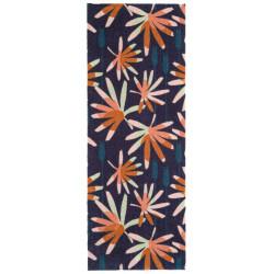 Protiskluzový běhoun Viva 104035 Blue/Pink z kolekce Elle