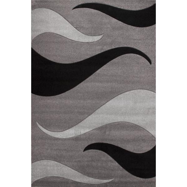 Lalee koberce Kusový koberec Havanna Carving HAV 406 silver, kusových koberců 80x150 cm% Šedá - Vrácení do 1 roku ZDARMA vč. dopravy