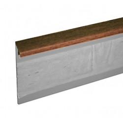 Kobercová (soklová) lišta TL55 22 ořech 250 cm