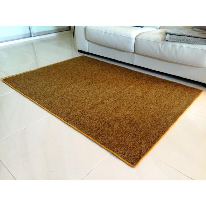 Kusový koberec Modena zlatohnědá kulatý