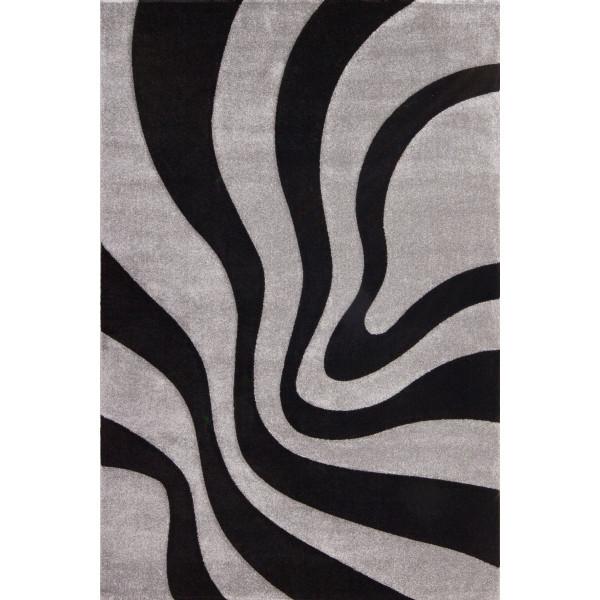 Lalee koberce Kusový koberec Lambada LAM 452 black-silver, koberců 80x150 cm Šedá - Vrácení do 1 roku ZDARMA
