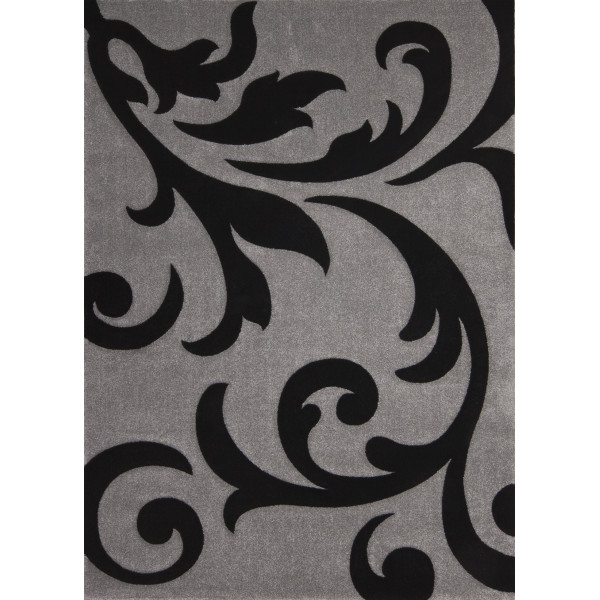 Lalee koberce Kusový koberec Lambada LAM 451 silver-black, koberců 80x150 cm Šedá - Vrácení do 1 roku ZDARMA