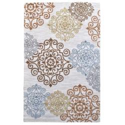 Ručně všívaný vlněný koberec DOO-2