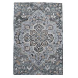 Ručně všívaný vlněný koberec DOO-12