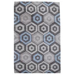 Ručně všívaný vlněný koberec DOO-20