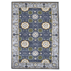 Ručně všívaný vlněný koberec DOO-22