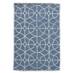 Ručně všívaný vlněný koberec DOO-37