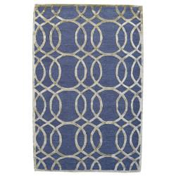 Ručně všívaný vlněný koberec DOO-54