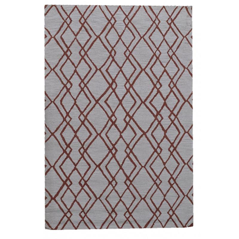 Ručně všívaný vlněný koberec DOO-58