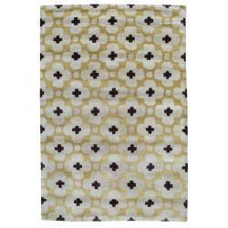 Ručně všívaný vlněný koberec DOO-62