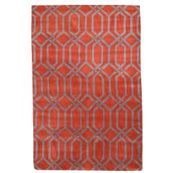 Ručně všívaný vlněný koberec DOO-68