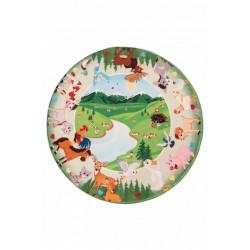 Dětský kusový koberec Juno 476 Mountains kruh