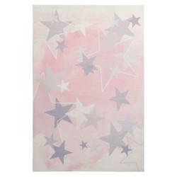 Dětský kusový koberec Stars 410 pink