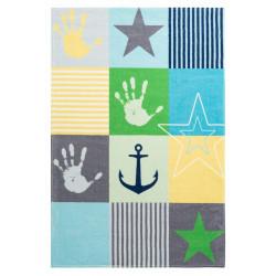 Dětský kusový koberec Stars 411 blue