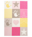 Dětský kusový koberec Stars 411 pink