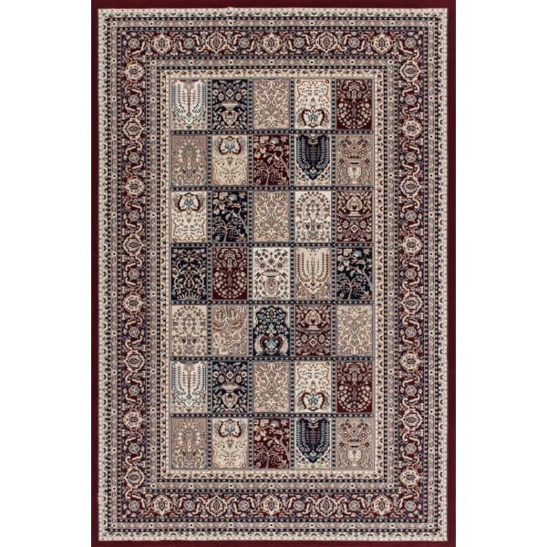 Lalee koberce Kusový koberec Mashad MAS 132 red, koberců 200x290 cm Červená, Béžová - Vrácení do 1 roku ZDARMA