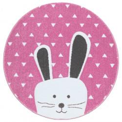 Dětský kusový koberec Pastel Kids 52/RVR kruh