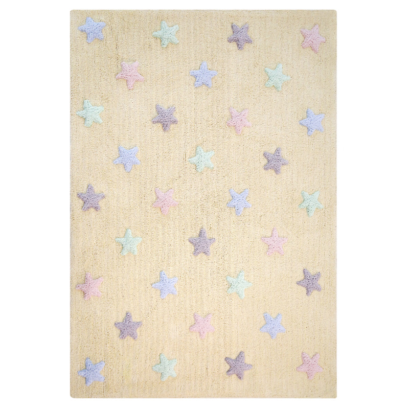 Pro zvířata: Pratelný koberec Tricolor Stars Vanilla