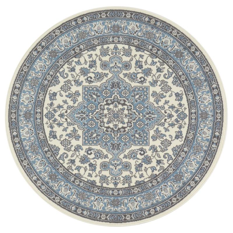 Kruhový koberec Mirkan 104442 Cream/Skyblue