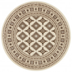 Kruhový koberec Mirkan 104110 Cream