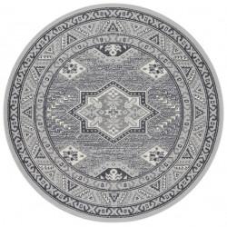 Kruhový koberec Mirkan 104101 Stone-grey