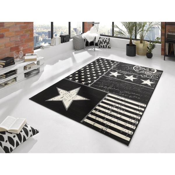 Hanse Home Collection koberce Kusový koberec CITY MIX 102399 140x200 cmcm, 140x200 cm% Bílá, Černá - Vrácení do 1 roku ZDARMA vč. dopravy