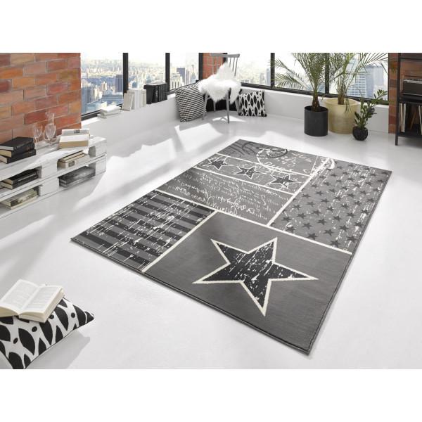 Hanse Home Collection koberce Kusový koberec CITY MIX 102397 140x200 cmcm, koberců 140x200 cm Bílá, Šedá - Vrácení do 1 roku ZDARMA