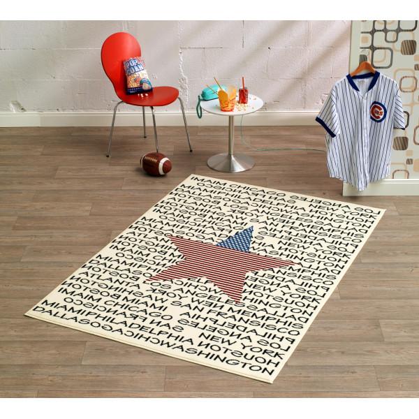Hanse Home Collection koberce Kusový koberec CITY MIX 102331 140x200 cmcm, 140x200 cm% Bílá, Červená, Modrá, Černá, Béžová - Vrácení do 1 roku ZDARMA vč. dopravy