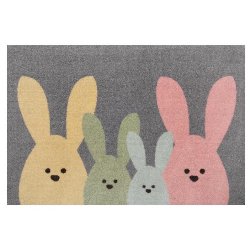 Protiskluzová rohožka Printy 104452 Grey, Multicolor