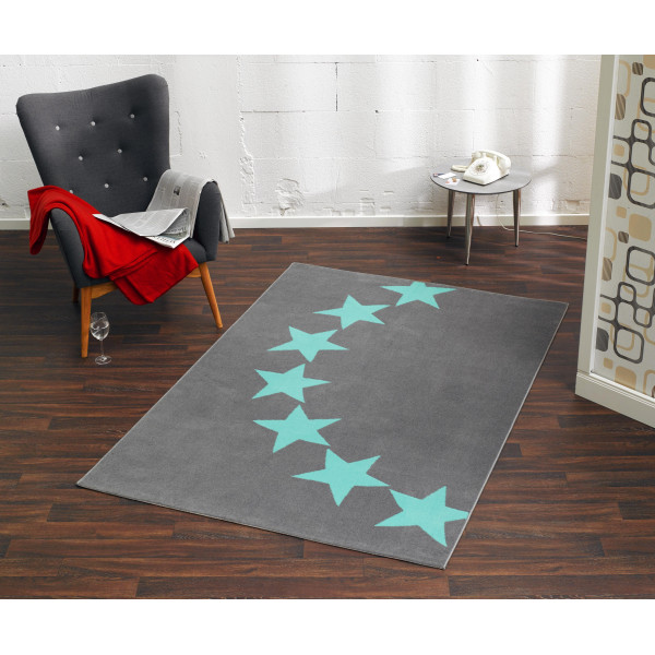 Hanse Home Collection koberce Kusový koberec CITY MIX 102327 140x200 cmcm, koberců 140x200 cm Modrá, Šedá - Vrácení do 1 roku ZDARMA