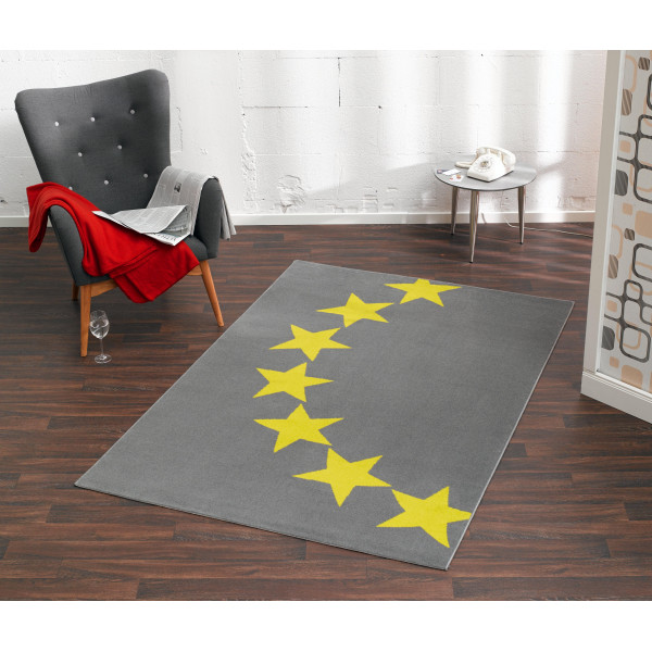 Hanse Home Collection koberce Kusový koberec CITY MIX 102326 140x200 cmcm, 140x200 cm% Žlutá, Šedá - Vrácení do 1 roku ZDARMA vč. dopravy