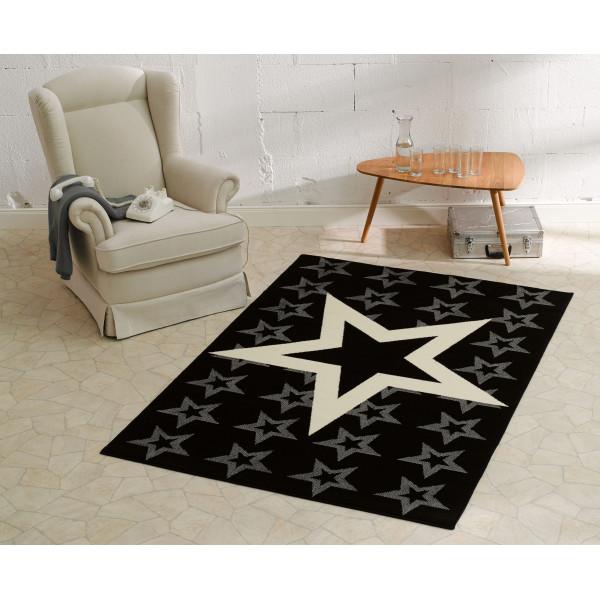 Hanse Home Collection koberce Kusový koberec CITY MIX 102315 140x200 cmcm, koberců 140x200 cm Bílá, Šedá, Černá - Vrácení do 1 roku ZDARMA