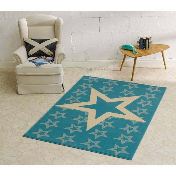 Hanse Home Collection koberce Kusový koberec CITY MIX 102313 140x200 cmcm, kusových koberců 140x200 cm% Bílá, Modrá, Šedá - Vrácení do 1 roku ZDARMA vč. dopravy