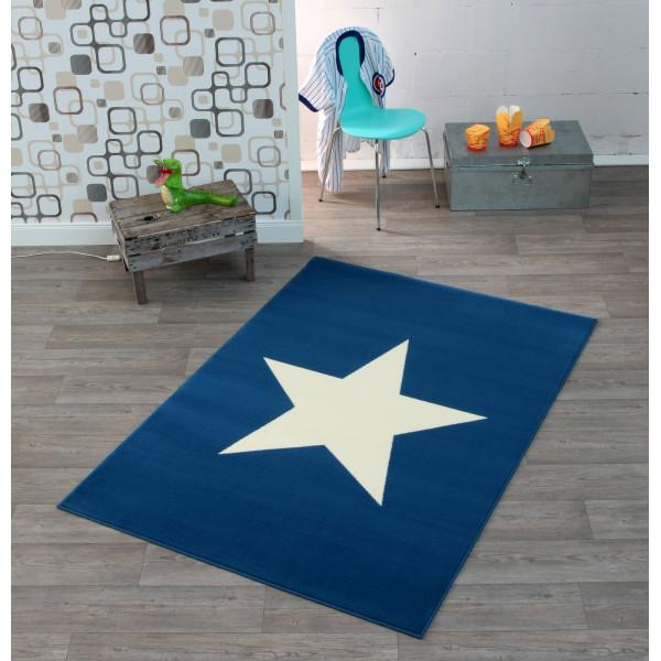Hanse Home Collection koberce Kusový koberec CITY MIX 102201 140x200 cmcm, 140x200 cm% Bílá, Modrá - Vrácení do 1 roku ZDARMA vč. dopravy