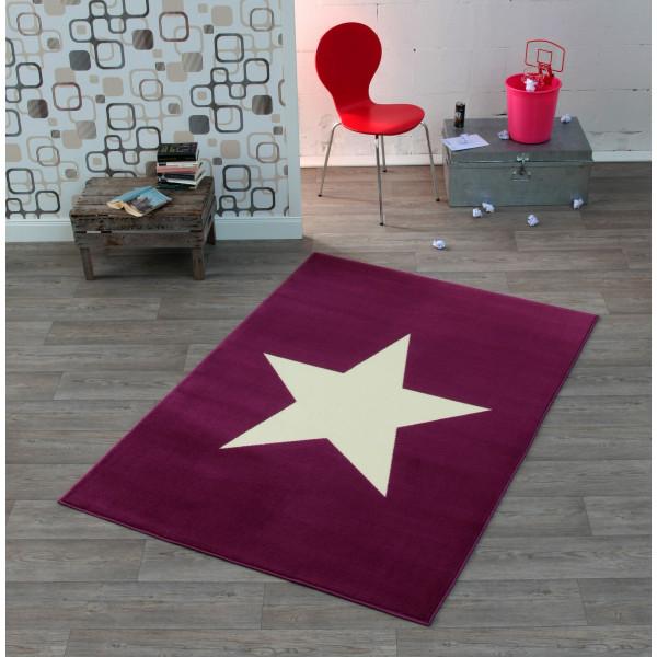 Hanse Home Collection koberce Kusový koberec CITY MIX 102200 140x200 cmcm, 140x200 cm% Bílá, Fialová - Vrácení do 1 roku ZDARMA vč. dopravy