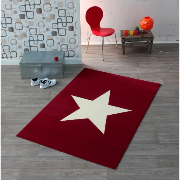 Hanse Home Collection koberce Kusový koberec CITY MIX 102199 140x200 cmcm, kusových koberců 140x200 cm% Bílá, Červená - Vrácení do 1 roku ZDARMA vč. dopravy