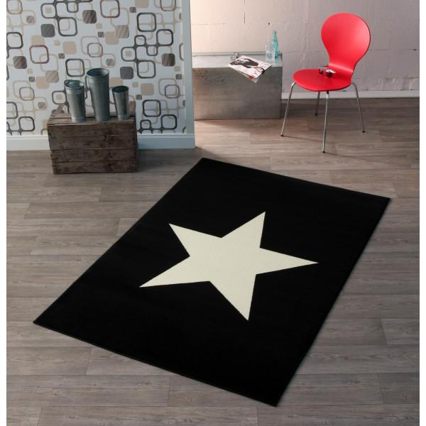 Hanse Home Collection koberce Kusový koberec CITY MIX 102198 140x200 cmxm, koberců 140x200 cm Bílá, Černá - Vrácení do 1 roku ZDARMA
