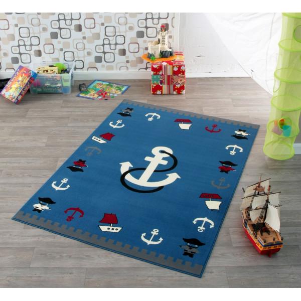 Hanse Home Collection koberce Kusový koberec CITY MIX 102173 140x200 cmcm, koberců 140x200 cm Bílá, Červená, Modrá, Šedá, Černá - Vrácení do 1 roku ZDARMA