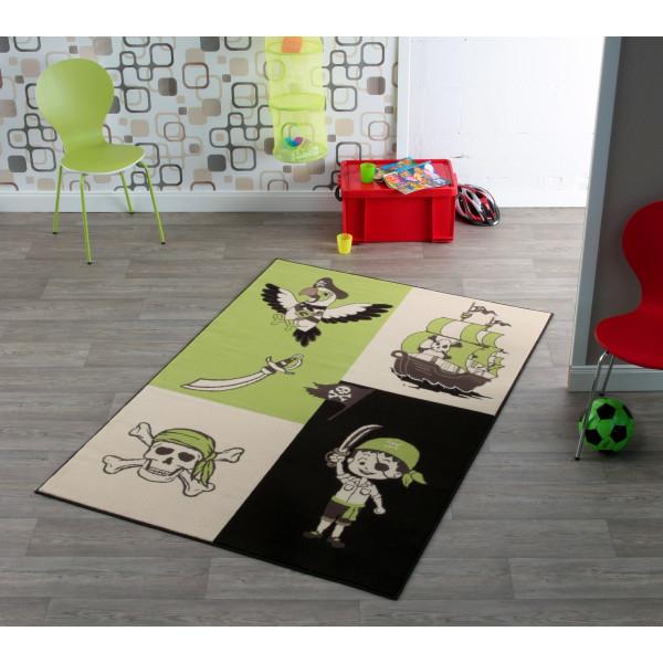 Hanse Home Collection koberce Kusový koberec CITY MIX 102172 140x200 cmcm, koberců 140x200 cm Bílá, Zelená, Černá, Hnědá - Vrácení do 1 roku ZDARMA