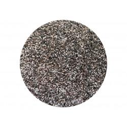 Kruhový koberec Capri hnědý