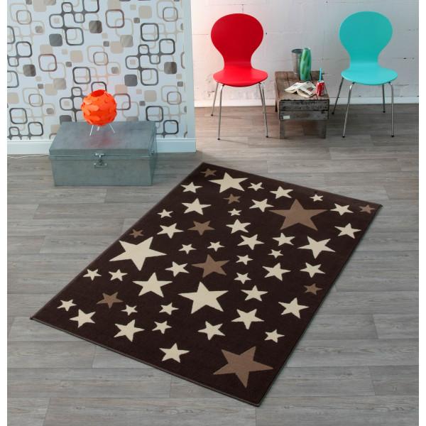 Hanse Home Collection koberce Dětský kusový koberec CITY MIX 102168 140x200 cmcm, koberců 140x200 cm Bílá, Hnědá - Vrácení do 1 roku ZDARMA