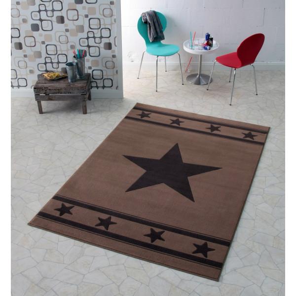 Hanse Home Collection koberce Kusový koberec CITY MIX 102162 140x200 cmcm, koberců 140x200 cm Černá, Hnědá - Vrácení do 1 roku ZDARMA