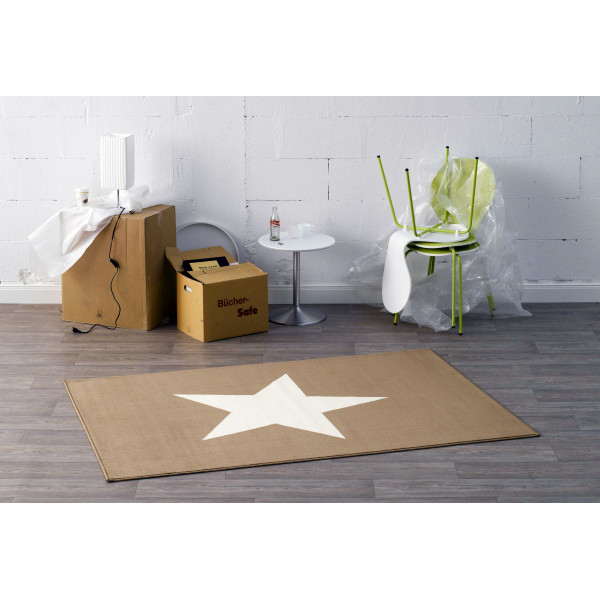 Hanse Home Collection koberce Kusový koberec CITY MIX 102040 140x200 cmcm, kusových koberců 140x200 cm% Bílá, Hnědá - Vrácení do 1 roku ZDARMA vč. dopravy