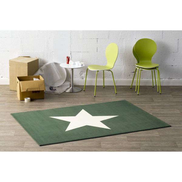 Hanse Home Collection koberce Kusový koberec CITY MIX 102038 140x200 cmcm, koberců 140x200 cm Bílá, Zelená - Vrácení do 1 roku ZDARMA