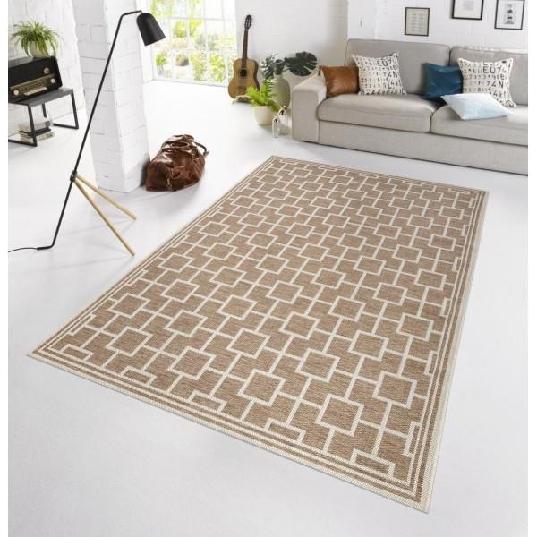 Bougari - Hanse Home koberce Kusový koberec BOTANY Bay Taupe - venkovní (outdoor), koberců 115x165 Hnědá, Béžová - Vrácení do 1 roku ZDARMA