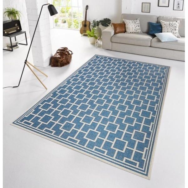 Bougari - Hanse Home koberce Kusový koberec BOTANY Bay Blau - venkovní (outdoor), koberců 115x165 Modrá - Vrácení do 1 roku ZDARMA