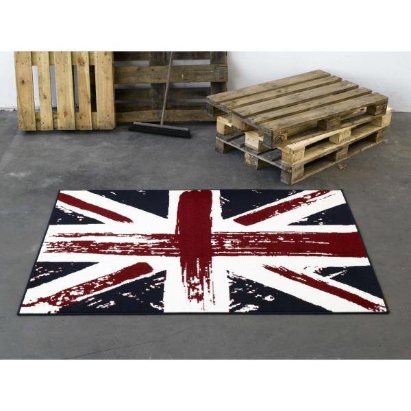 Hanse Home Collection koberce Kusový koberec CITY MIX 101906 140x200 cmcm, koberců 140x200 cm Červená, Modrá - Vrácení do 1 roku ZDARMA