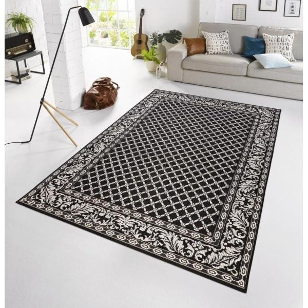 Bougari - Hanse Home koberce Kusový koberec BOTANY Royal Schwarz - venkovní (outdoor), 115x165% Černá - Vrácení do 1 roku ZDARMA vč. dopravy