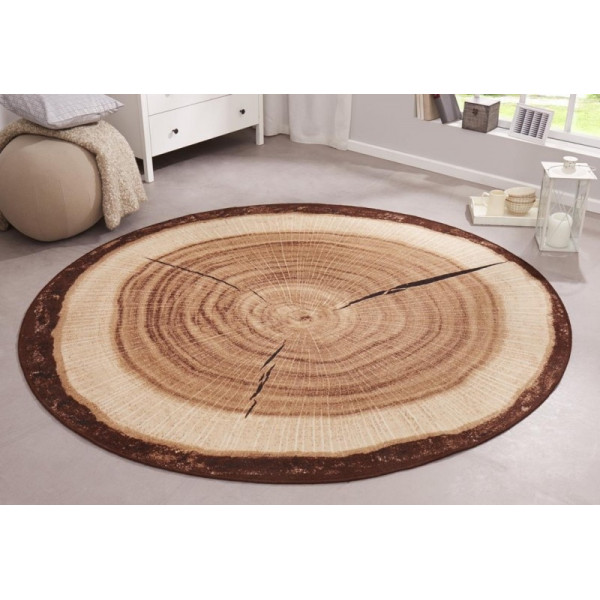 Hanse Home Collection koberce Kusový koberec BASTIA SPECIAL 101175 , kusových koberců 133x133 - kruh% Hnědá - Vrácení do 1 roku ZDARMA vč. dopravy